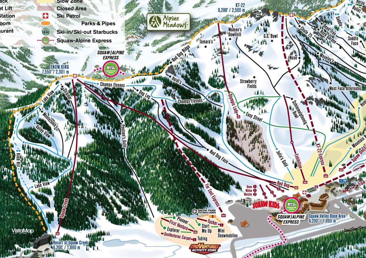 California Ski Maps   Squaw Valley Ski Resort Trail Map on blandford ski area trail map, heavenly ski map, donner pass trail map, red river ski area trail map, ski brule trail map, suicide six ski area trail map, tahoe donner trail map, bousquet ski area trail map, ski resort trail map, mammoth mountain ski area map, boreal ski map, camp donner party route map, southern california ski resorts map, blue hills ski area trail map, donner summit lodge, ski butternut trail map, ski santa fe trail map, white pass ski area trail map, ski cooper trail map, donner lake trail map,